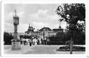 Ansichtskarte, Seebad Ahlbeck, Strandweg zur Seebrücke, 100 Jahre Seebad, 1955