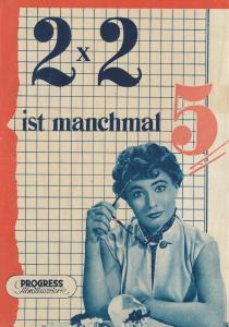 Progress Filmillustrierte, 2 x 2 ist manchmal 5, 1956