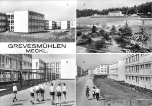 Ansichtskarte, Grevesmühlen Meckl., Neubauten, vier Abb., 1975