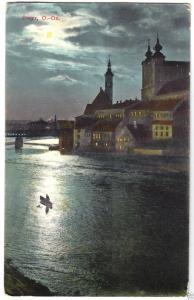 Ansichtskarte, Steyr, Mondscheinkarte, 1920