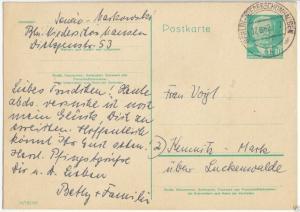 Ganzsache, Postkarte, DDR Michel P68a, o Berlin-Niederschönhausen, 07.6.62