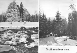 Ansichtskarte, Gruß aus dem Harz, drei Winteransichten, 1984