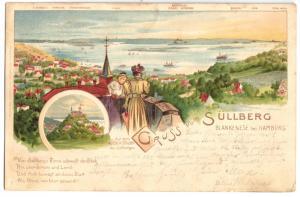 Ansichtskarte, Hamburg Blankenese, Blick vom Süllberg, 1903
