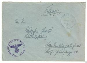 Feldpostbeleg, II. WK, 6.3.43, Feldpostnummer L49975 D