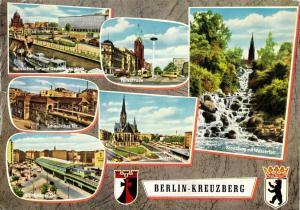 Ansichtskarte, Berlin Kreuzberg, sechs Abb., gestaltet, 1982