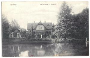 Ansichtskarte, Bremen, Meierei im Bürgerpark, um 1910