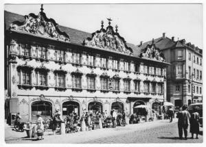 Ansichtskarte, Würzburg, Haus zum Falken am Oberen Markt, 1962