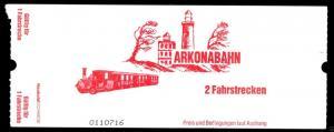 Fahrkarte, Arkonabahn, Insel Rügen, um 2005