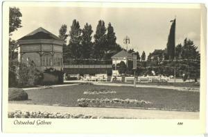 Ansichtskarte, Ostseebad Göhren Rügen, Konzertplatz, 1955