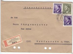 R-Brief, Böhmen und Mähren, Mi.-Nr. 102 Mif 93(2), o Friedland, 15.9.44