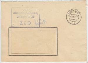 ZKD-Brief, VEB Bodenbearbeitungsgeräte Leipzig, o Leipzig W 31, 15.11.62