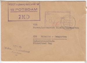 ZKD-Brief, VEB (B) Wohnungsbaukombinat, 15 Potsdam, o Potsdam, 16.9.66