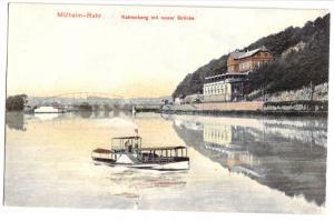 Ansichtskarte, Mülheim Ruhr, Kahlenberg mit neuer Brücke, 1907