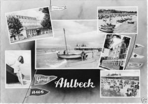 Ansichtskarte, Seebad Ahlbeck, sechs Abb., gestaltet, 1965
