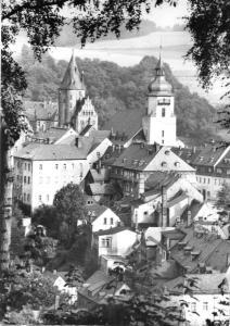 Ansichtskarte, Schwarzenberg Erzgeb., Blick auf Schloß und Kirche, 1982