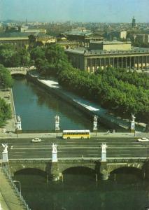 Ansichtskarte, Berlin Mitte, Blick auf Marx-Engels-Brücke und Museumsinsel, 1986