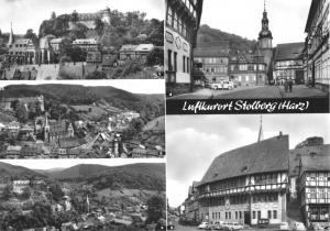 Ansichtskarte groß, Stolberg Harz, fünf Abb., 1969