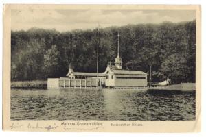 Ansichtskarte, Malente-Gremsmühlen, Badeanstalt am Dieksee, 1918