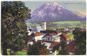 Ansichtskarte, Reutte Außerfernbahn, Teilansicht, ca. 1925