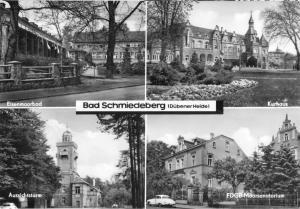Ansichtskarte, Bad Schmiedeberg Dübener Heide, vier Abb., 1968