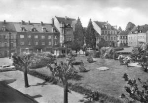 Ansichtskarte, Lengefeld Erzgeb., Markt, 1971