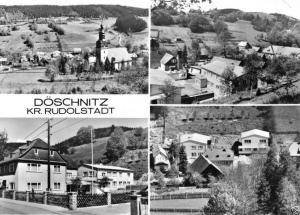 Ansichtskarte, Döschnitz Kr. Rudolstadt, vier Abb., Betriebsferienheim, 1978