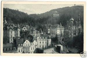 Ansichtskarte, Karlsbad, Karlovy Vary, Partie im Westend mit Villen, 1936