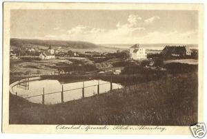 Ansichtskarte, Ostseebad Apenrade, Nordschleswig, Aabenraa, Blick vom Ahrensberg, 1917