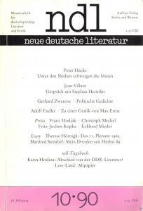 Neue deutsche literatur, Heft 10 - 1990