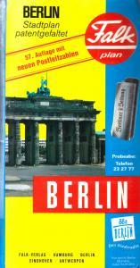 Stadtplan, Falk, Berlin, patentgefaltet, 1994