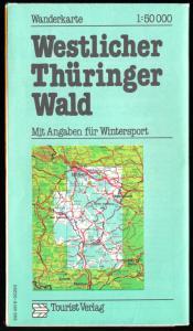 Wanderkarte, Westlicher Thüringer Wald, 1987