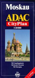Stadtplan, Moskau, City, 2002