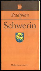 Stadtplan, Schwerin, 1988