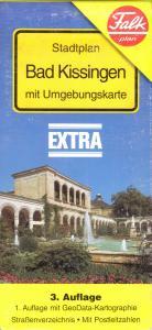 Stadtplan, Falk, Bad Kissingen mit Umgebungskarte, um 1996