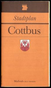 Stadtplan, Cottbus, 1990