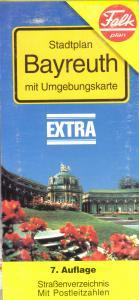 Stadtplan, Falk, Bayreuth mit Umgebungskarte, 1996