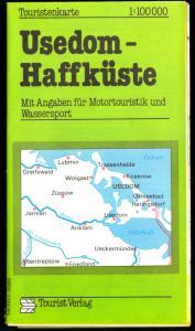 Touristenkarte, Usedom - Haffküste, 1989