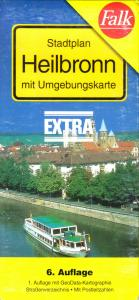 Stadtplan, Falk, Heilbronn mit Umgebungskarte, 1998