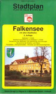 Stadtplan, Falkensee mit allen Stadtteilen, um 1995