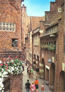 Ansichtskarte, Bremen, Böttcherstr., belebt, Version 2, um 1980