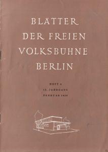 Blätter der Freien Volksbühne Berlin, Heft 4/1959