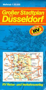 Stadtplan, Düsseldorf, Großer Stadtplan, 1989