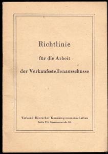 Richtlinie für die Arbeit der Verkaufsstellenausschüsse, 1959