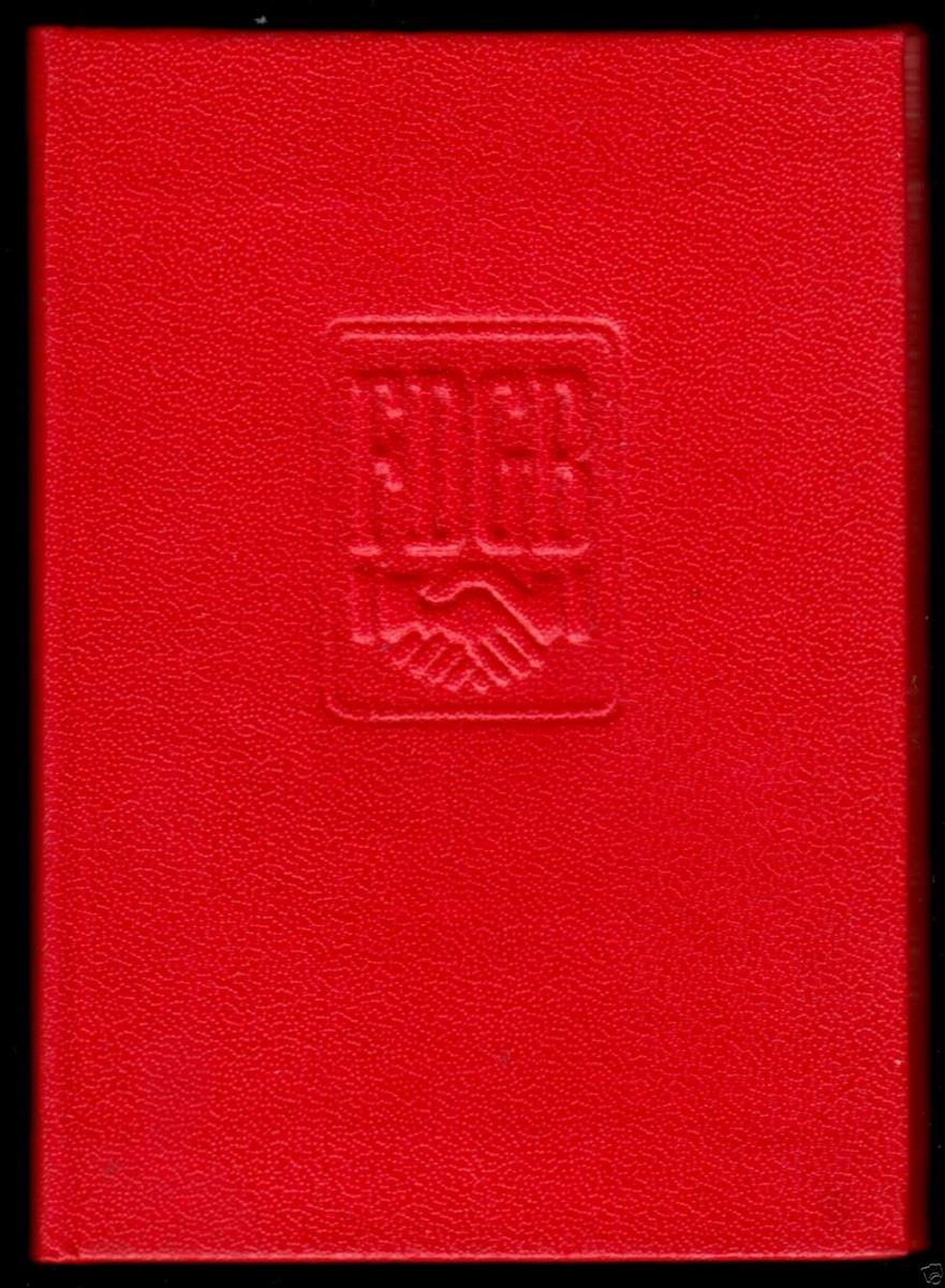 FDGB-Ausweis mit Beitragsmarken, 1990, Außenhandel 0