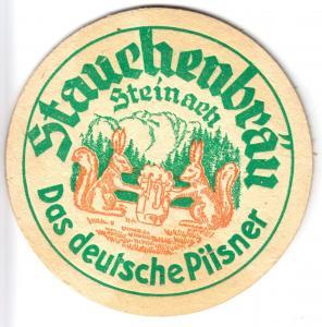 Bierdeckel, Stauchenbräu Steinach, 1960er