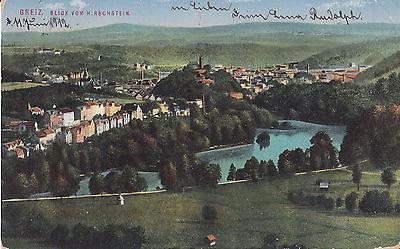 Ansichtskarte Greiz Blick vom Hirschstein 1912