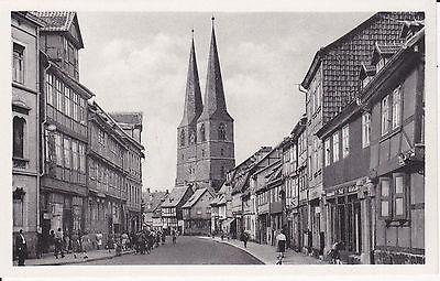 Ansichtskarte Quedlinburg Pölkenstraße Nikolaikirche 1959
