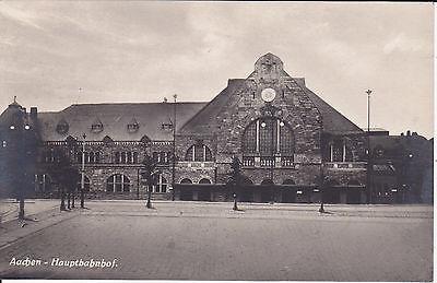 Ansichtskarte Aachen Hauptbahnhof Foto ca. 1930