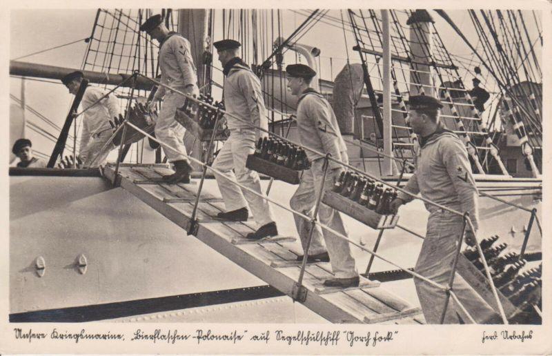 Ansichtskarte Gorch Fock Matrosen Kriegsmarine