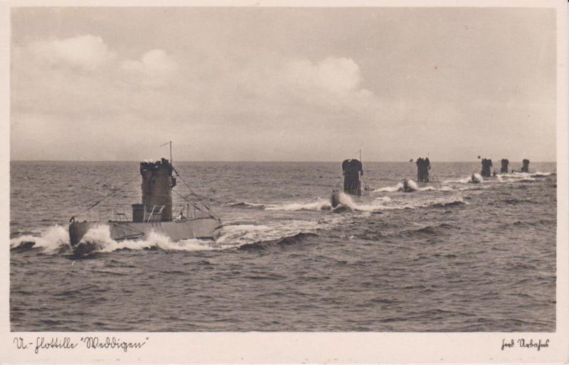 Ansichtskarte U-Boot-Flotille Weddigen Kriegsmarine Foto ca. 1940